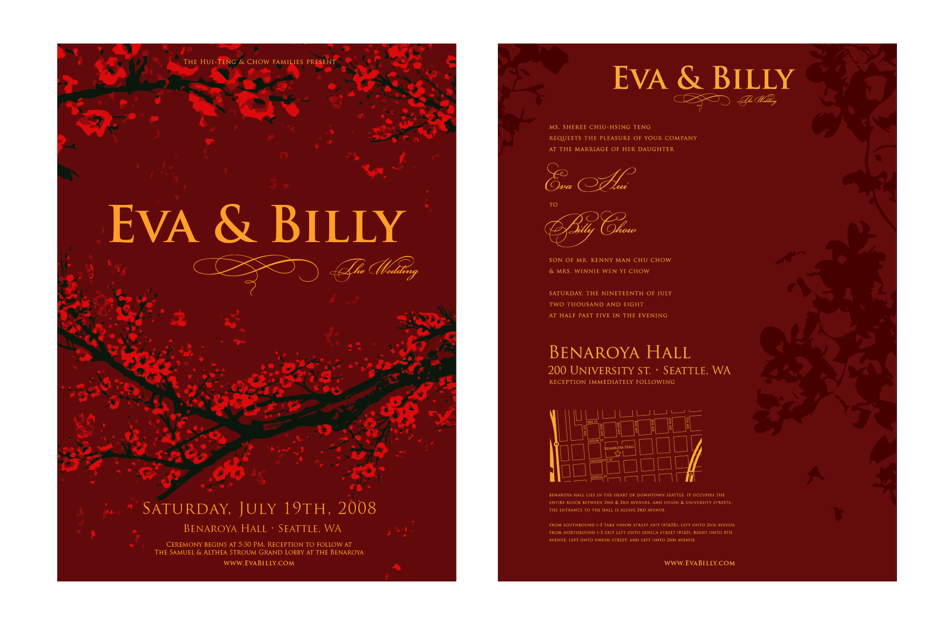 Billy Chow - Wedding Invite