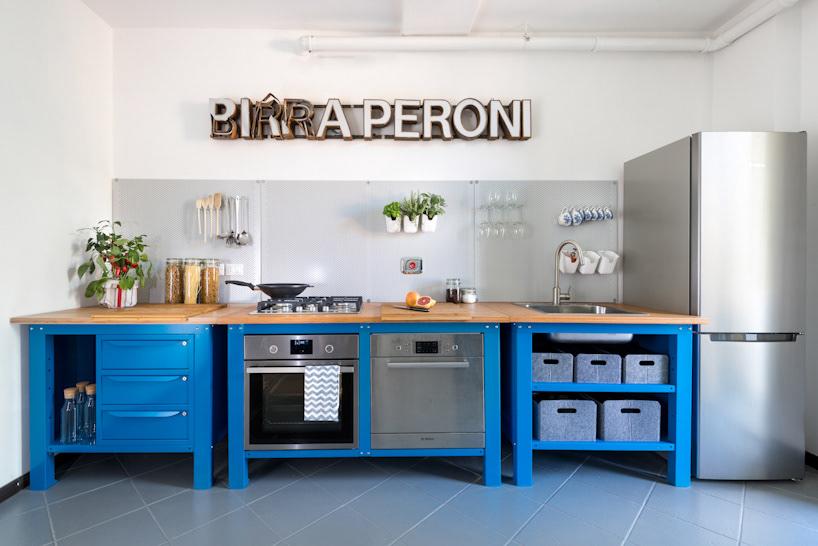 very simple kitchen design. Very Simple Kitchen  Blue Industrial Design Riccardo Randi Designer Bologna