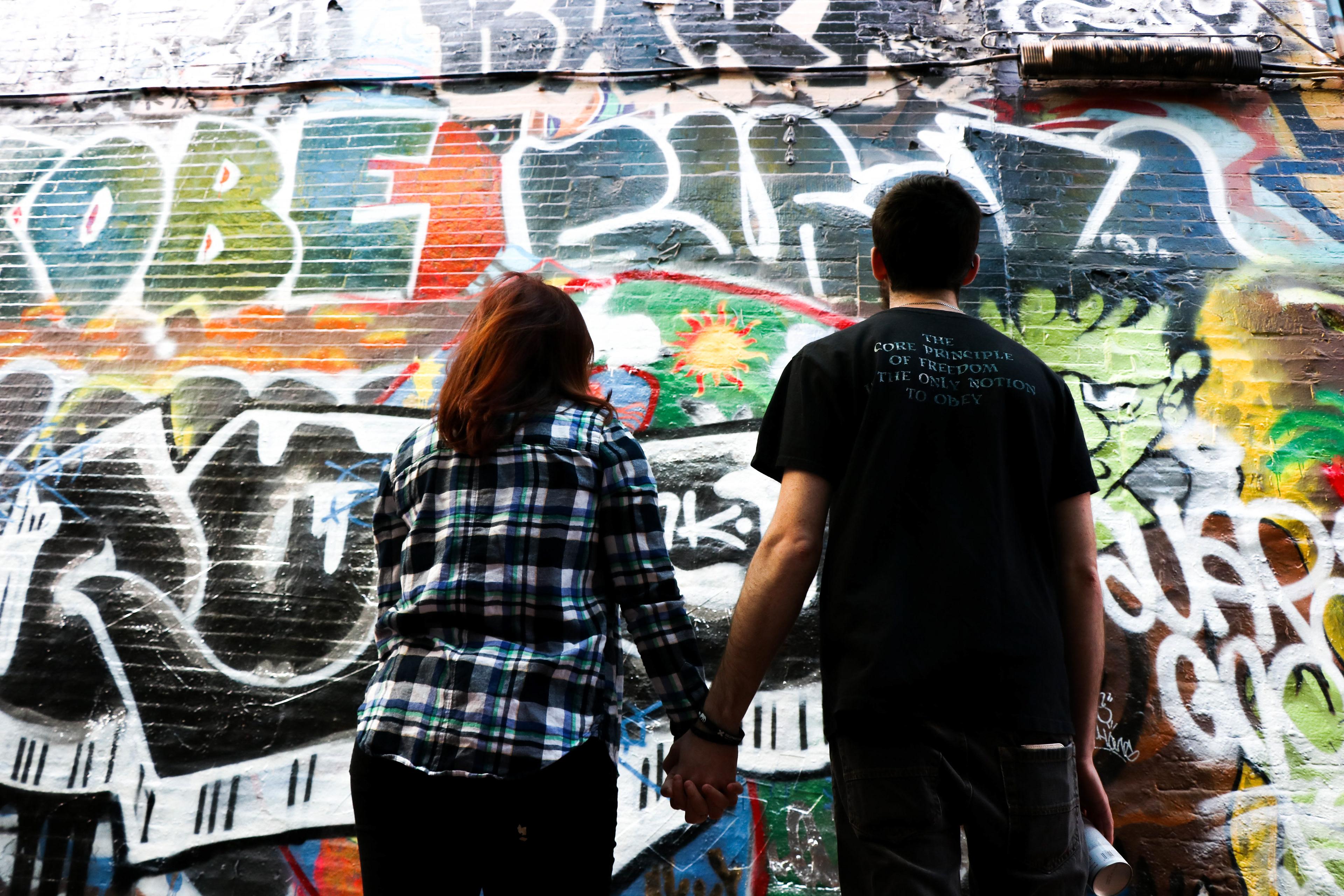 Graffiti wall cambridge ma - Graffiti Alley Cambridge Massachusetts Erin M And Brian C