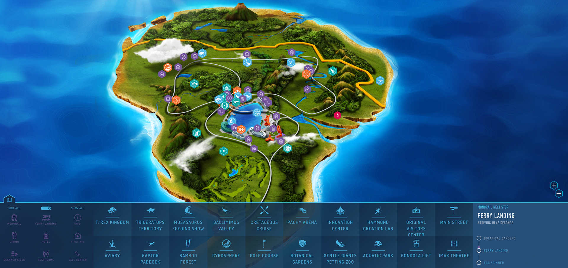 Sean salter jurassic world i illustrated the interactive map which has found its way into consumer products fan art and was even used and rescind for the lego jurassic world video gumiabroncs Choice Image