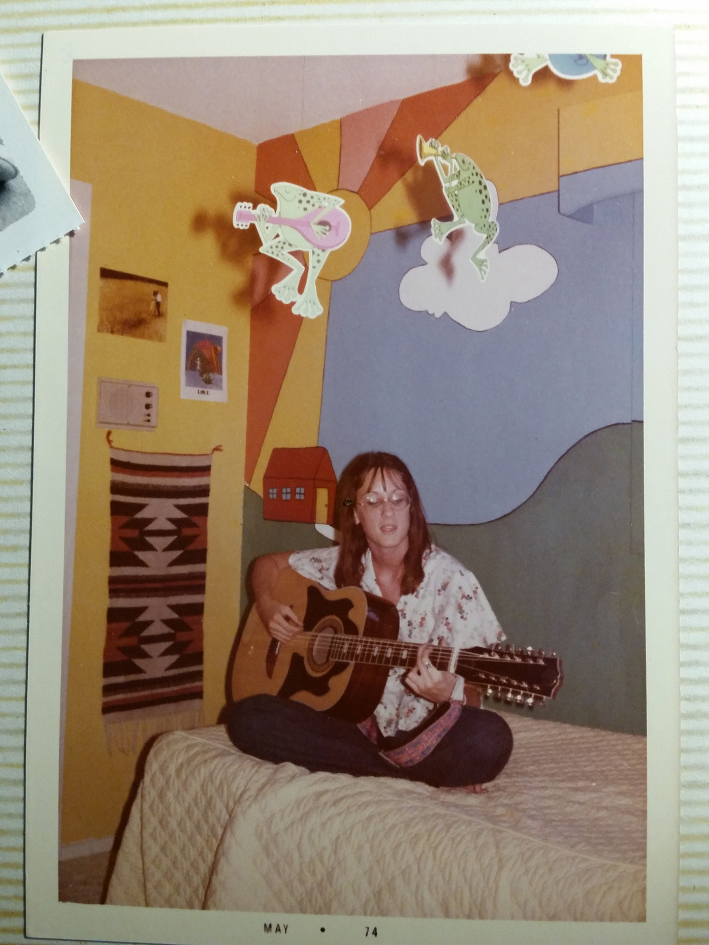 Kat morris murals best chattanooga mural painter peter max mural teen girls bedroom mural this is kat morris first mural although this picture is taken of me playing my guitar on the bed in 1974 amipublicfo Images
