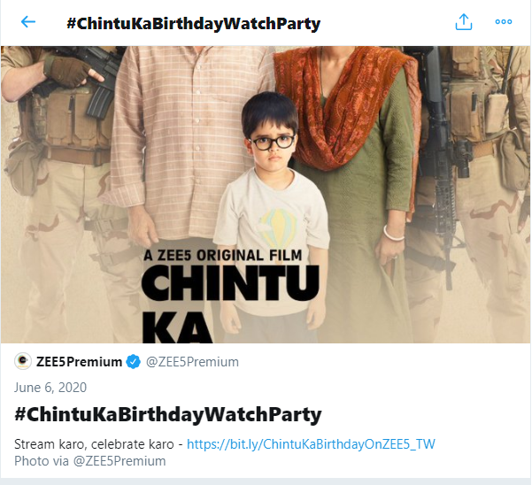 Imran Shaikh Twitter Watch Party Chintu Ka Birthday Zee5 Premium