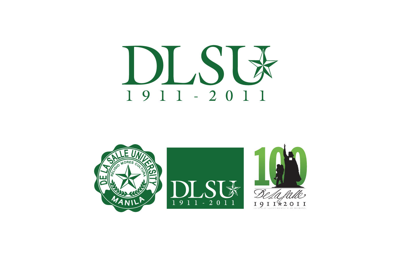 Also Shown Is The Centennial Logo I Designed With Our Creative Director As A Stand Alone And Its Application DLSU La Salle District