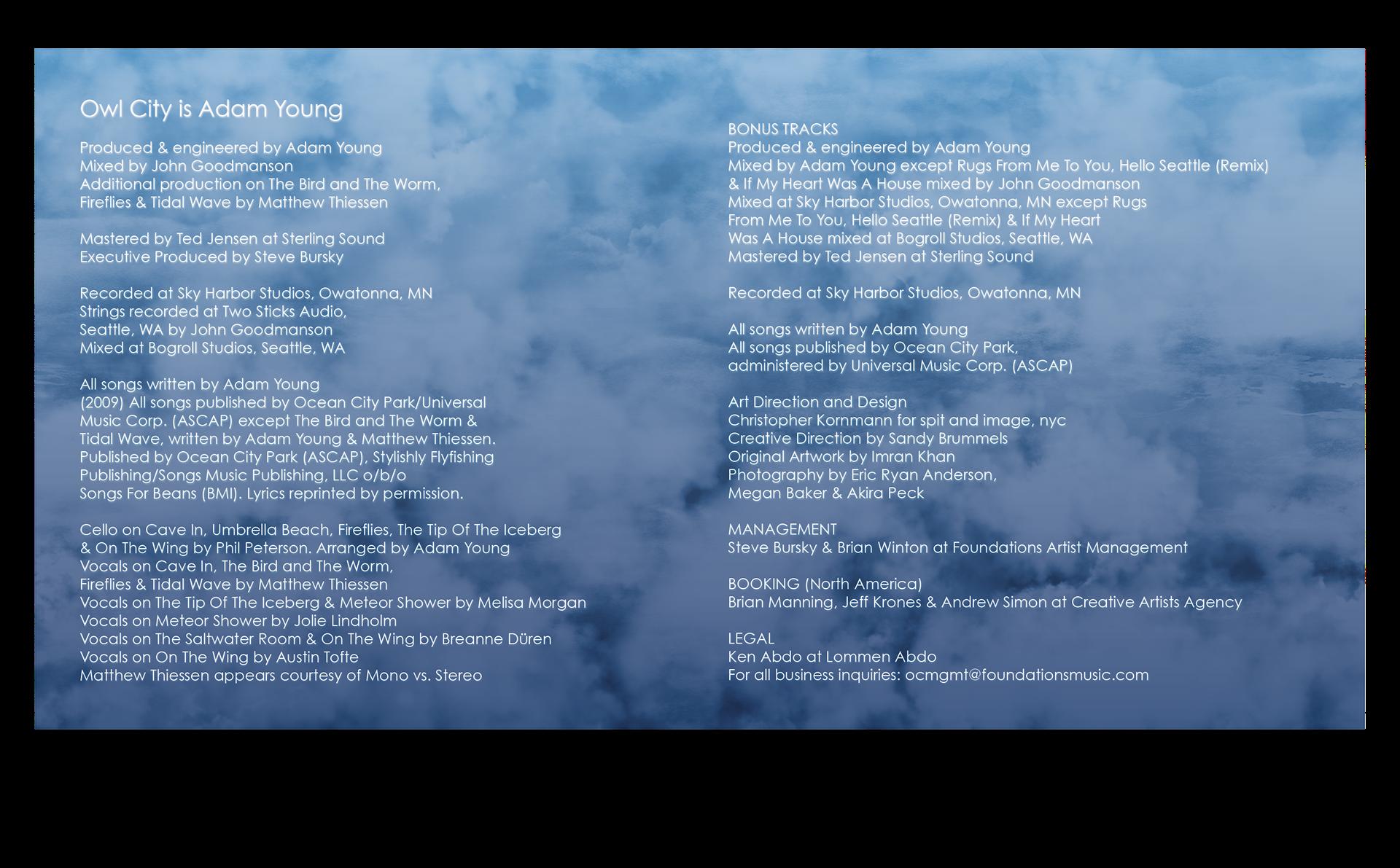 Rebecca Devora Owl City Cd Cover Concept