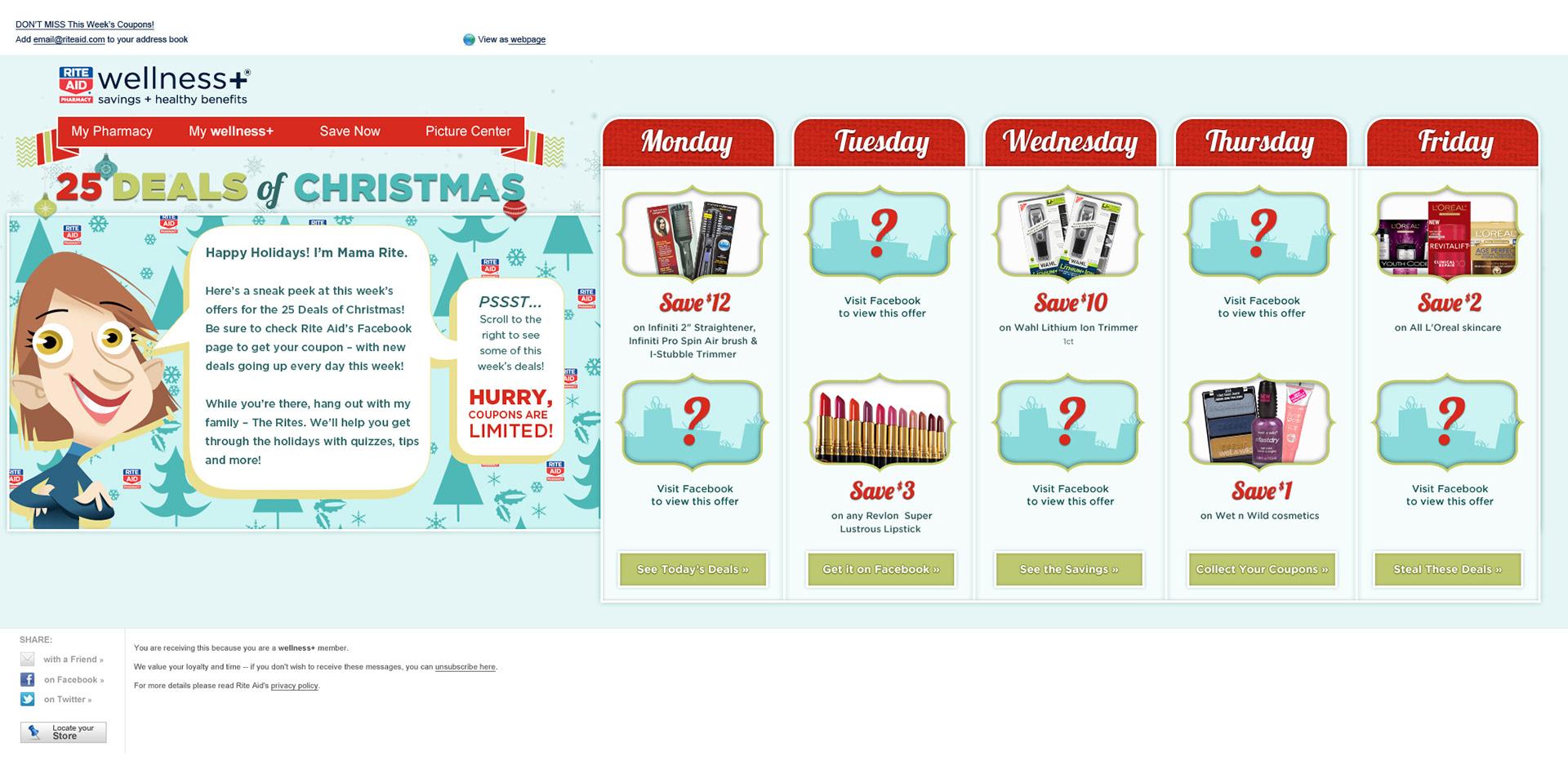 Elizabeth Sanchez - 25 Deals of Christmas - Rite Aid