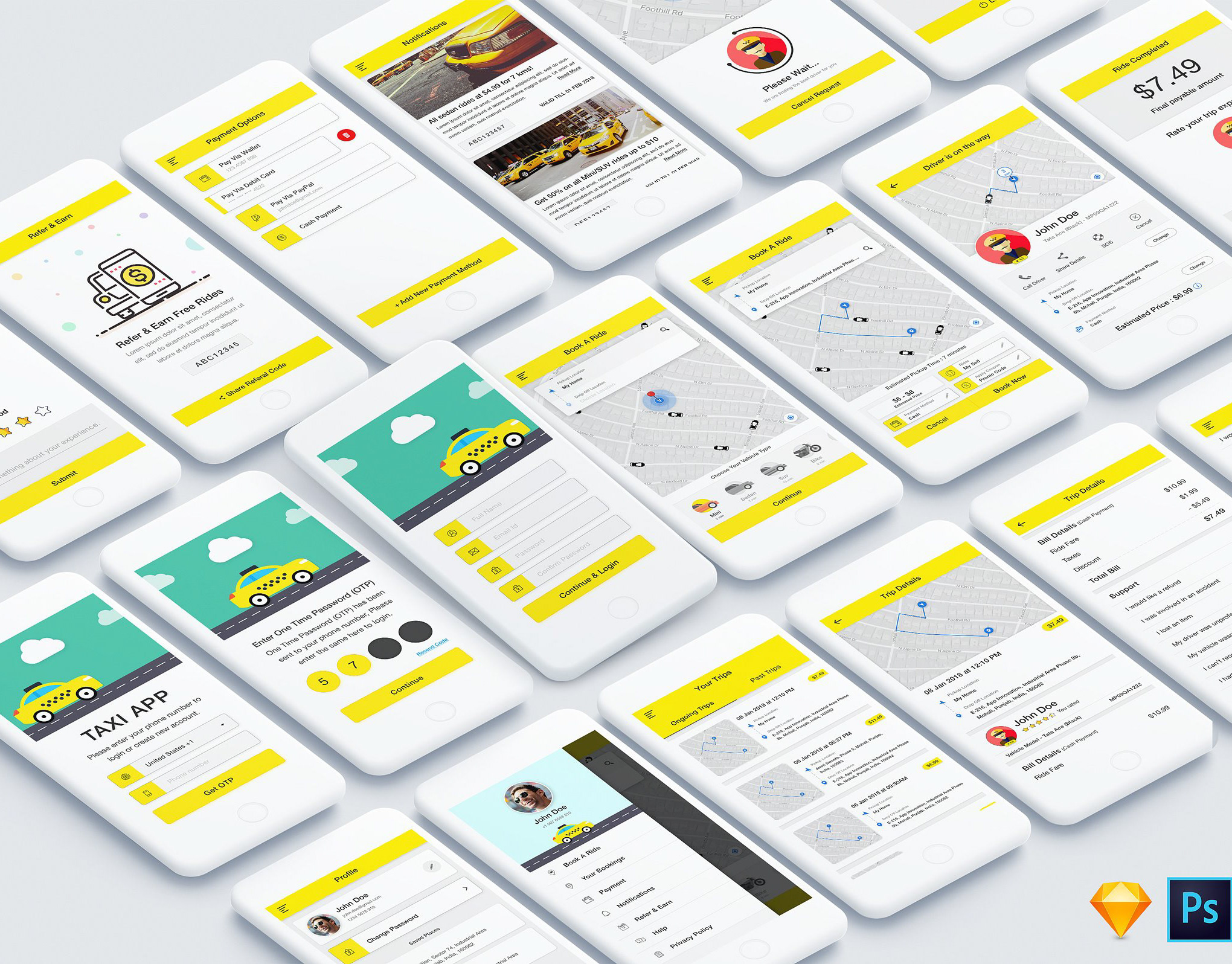 DEOUR - Webdesign Resources & Development - Taxi Booking App