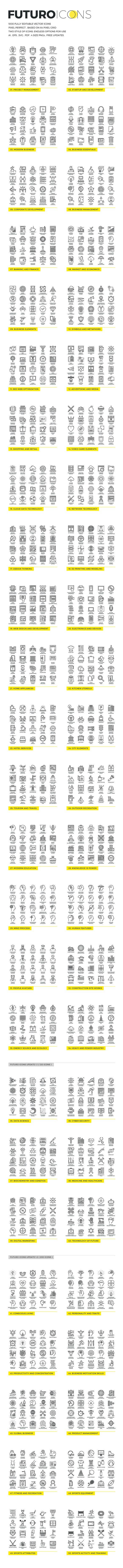 DEOUR - Webdesign Resources & Development - Futuro Line Icons by Bloomua