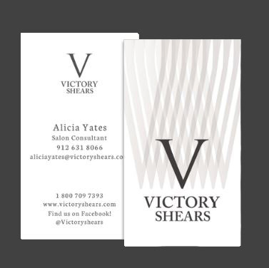Victoria rose visual creative victory shears business card design victory shears business card design reheart Images