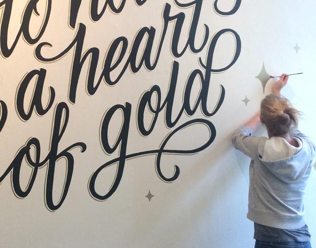 Dirty Bandits Annica Lydenberg Hand Lettering Murals