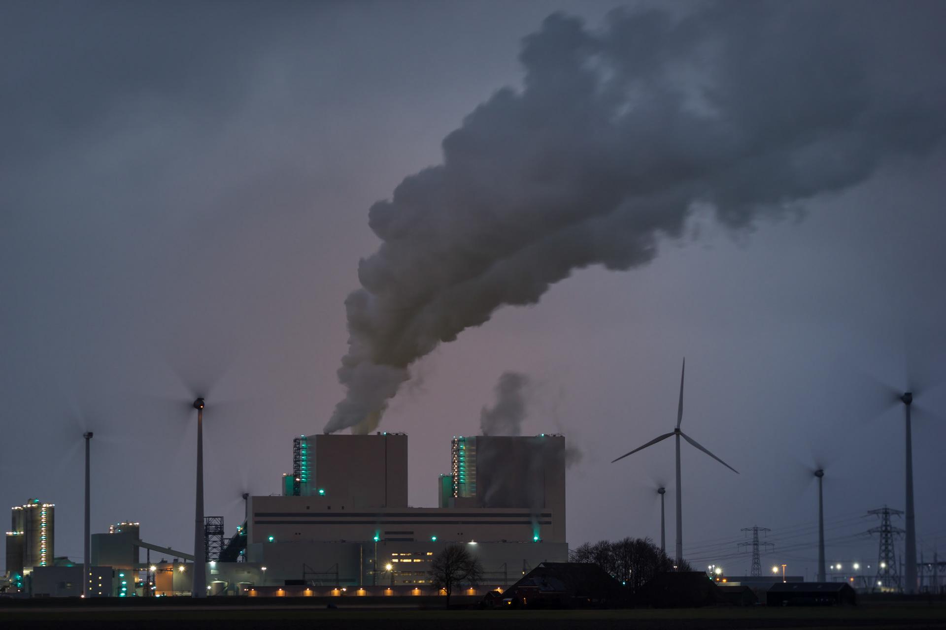Netherlands Eemshaven After Nightfall 2015 Landscape Industry