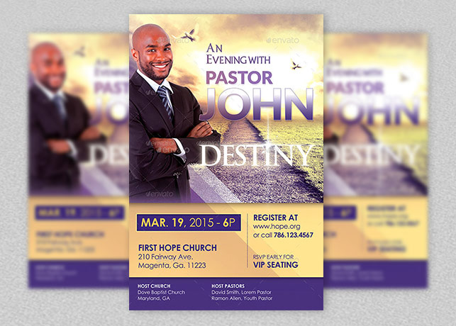 Michael Taylor Godserv Print Template Portfolio Church - Conference brochure template
