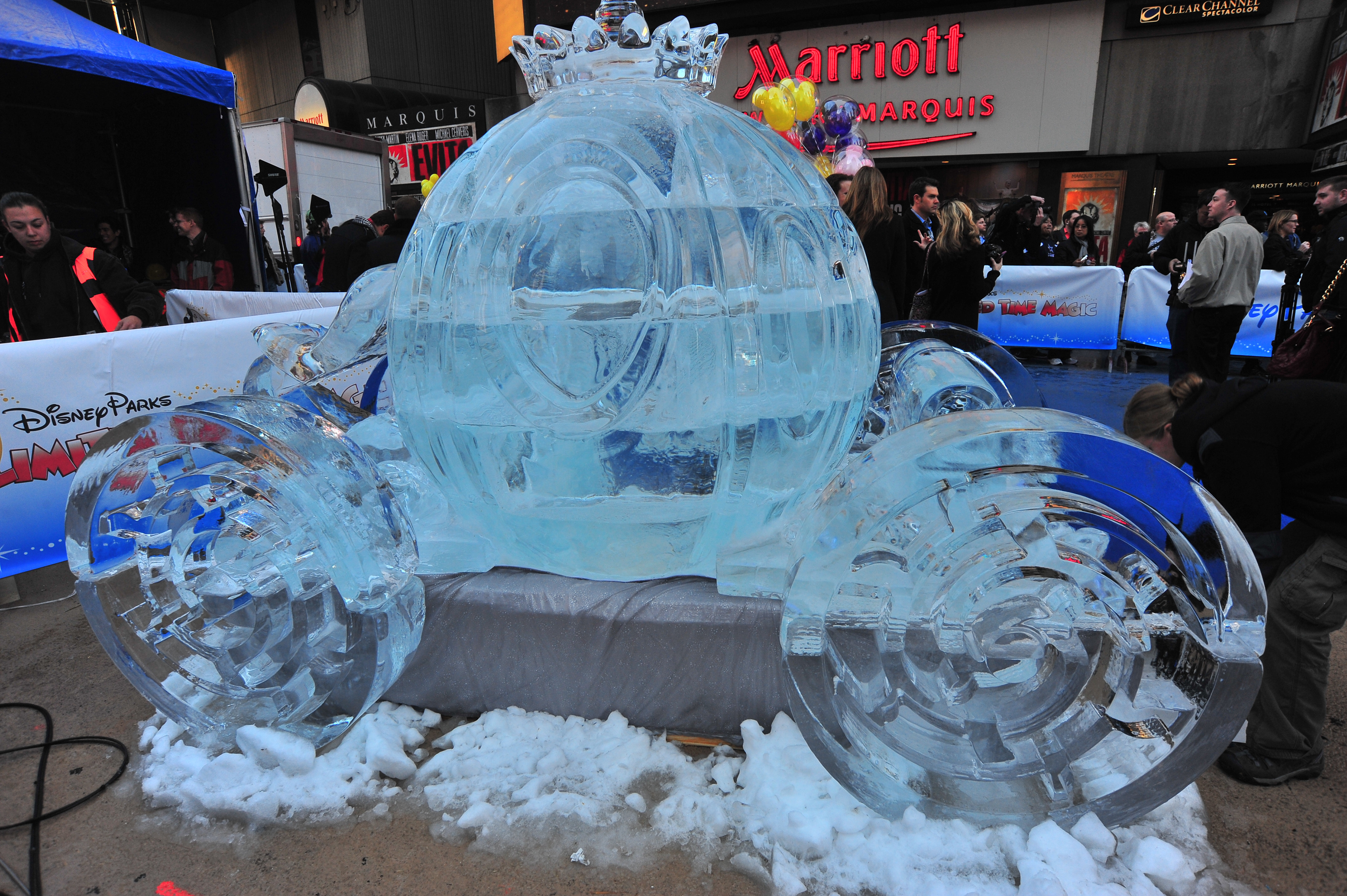 Don Lowing Disney Ice Castle Times Square Nyc