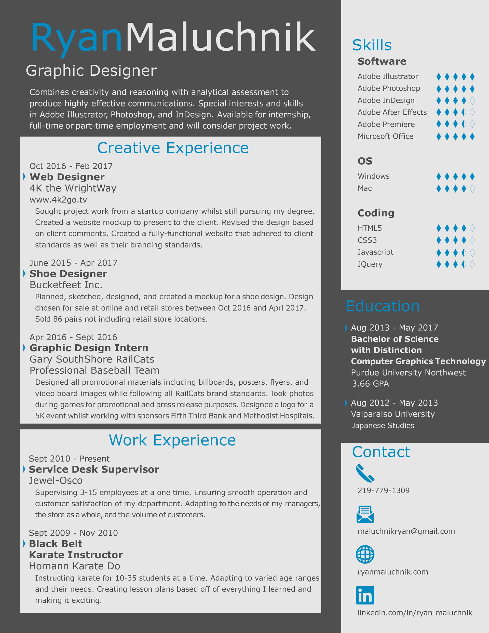 Ryan Maluchnik\'s Portfolio - My Resume