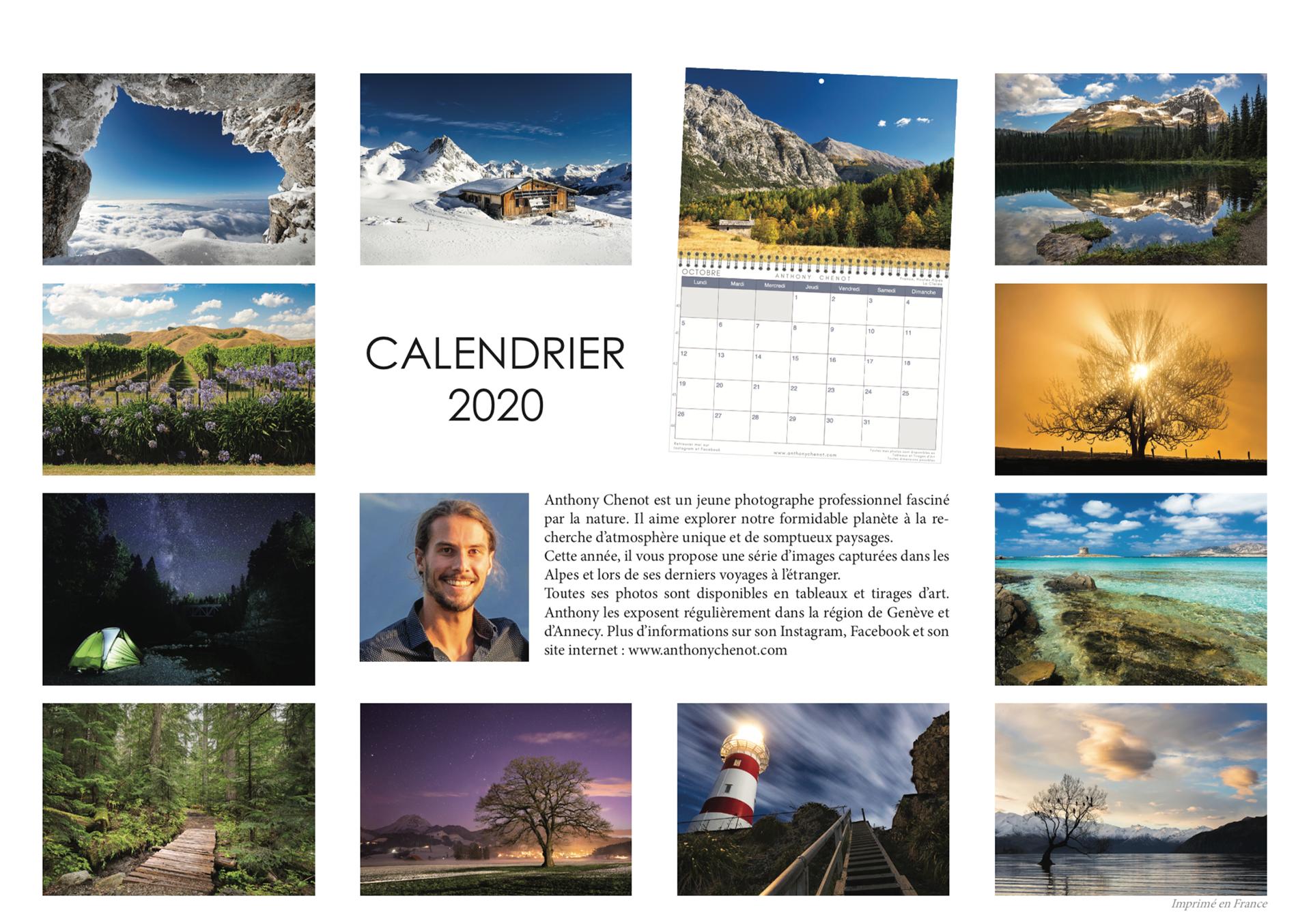 Achat Calendrier 2020.Anthony Chenot Photography Portfolio Calendrier 2020