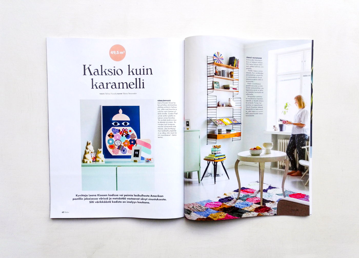 Deko Magazine leena kisonen featured in deko magazine