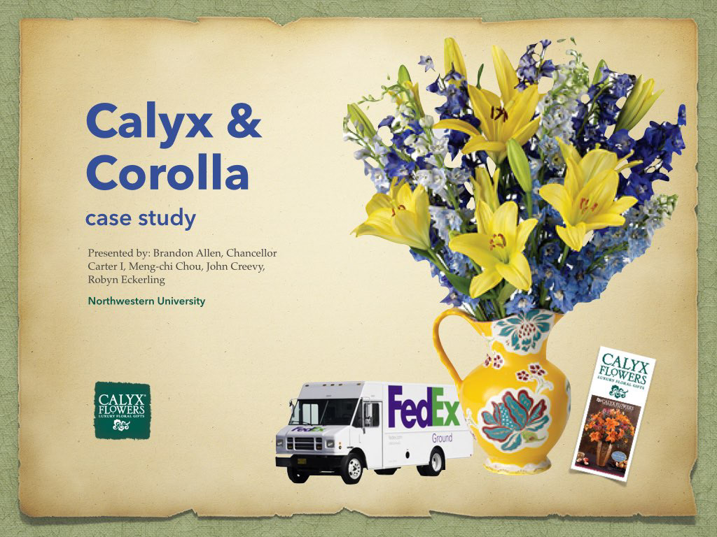 calyx corolla essay example For example, calyx and corolla delivered roses from growers to consumers  within 1-2 days of purchase order  a case analysis of calyx and corolla essay.