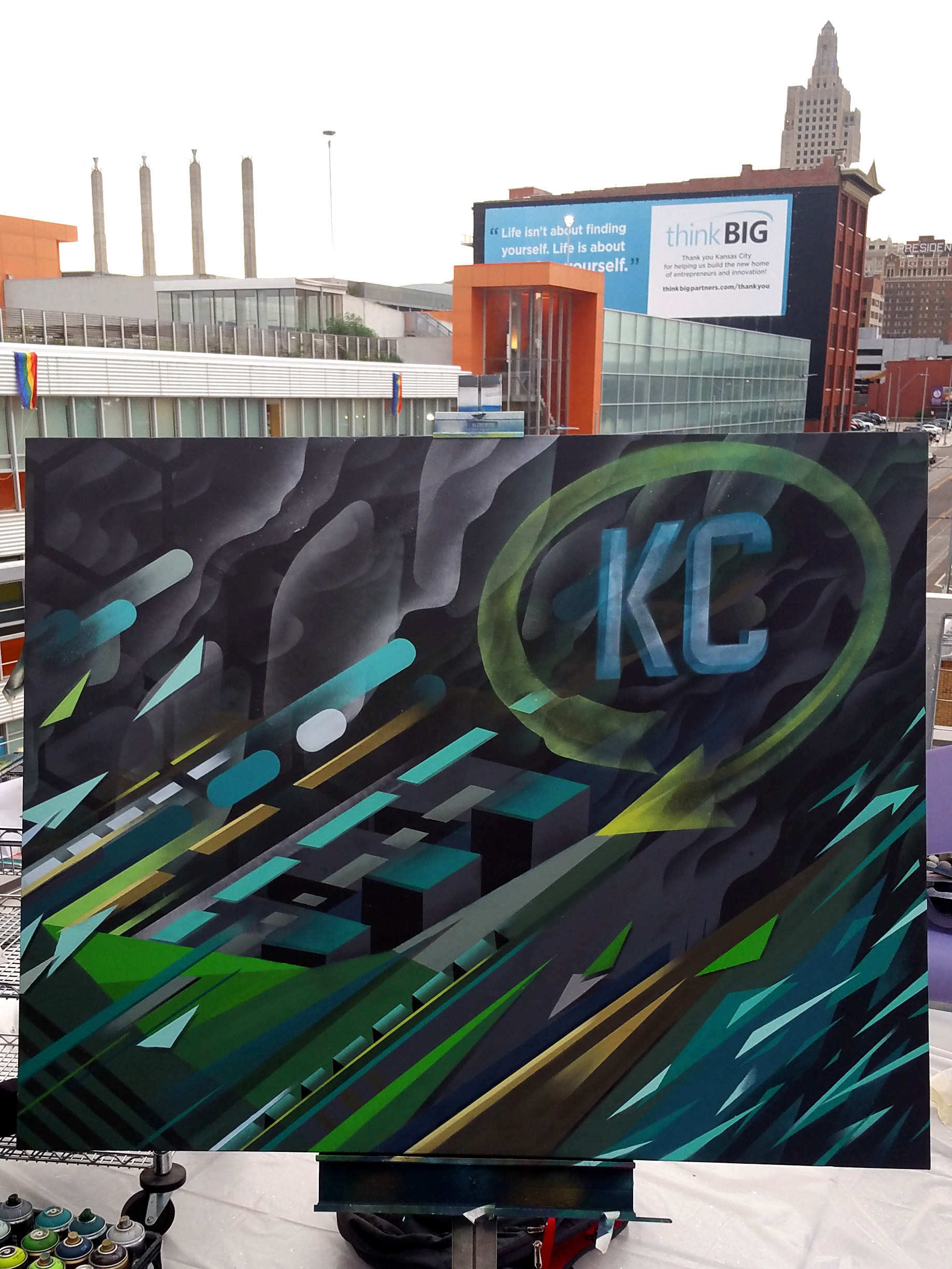 Sike style industries live event painting 4 x 5 canvas painted for henderson engineering june 23rd kansas city mo 2016 solutioingenieria Image collections