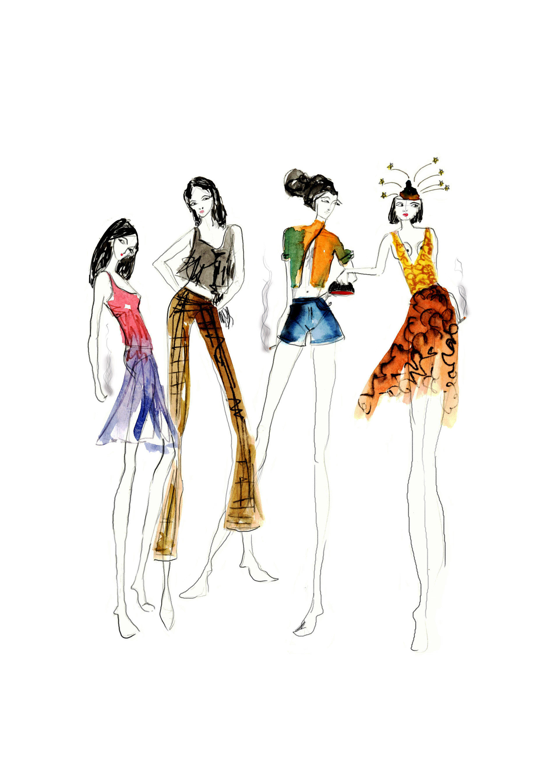 Grusha Tiwari Fashion Illustrations