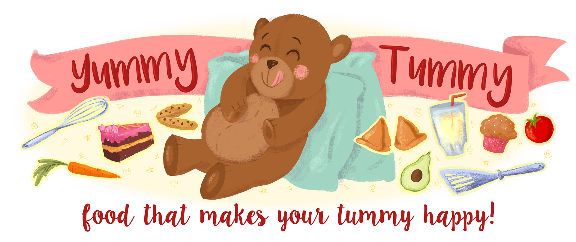 Ramya Ramakrishnan - Yummy Tummy! Illustrated Logo  Ramya Ramakrish...