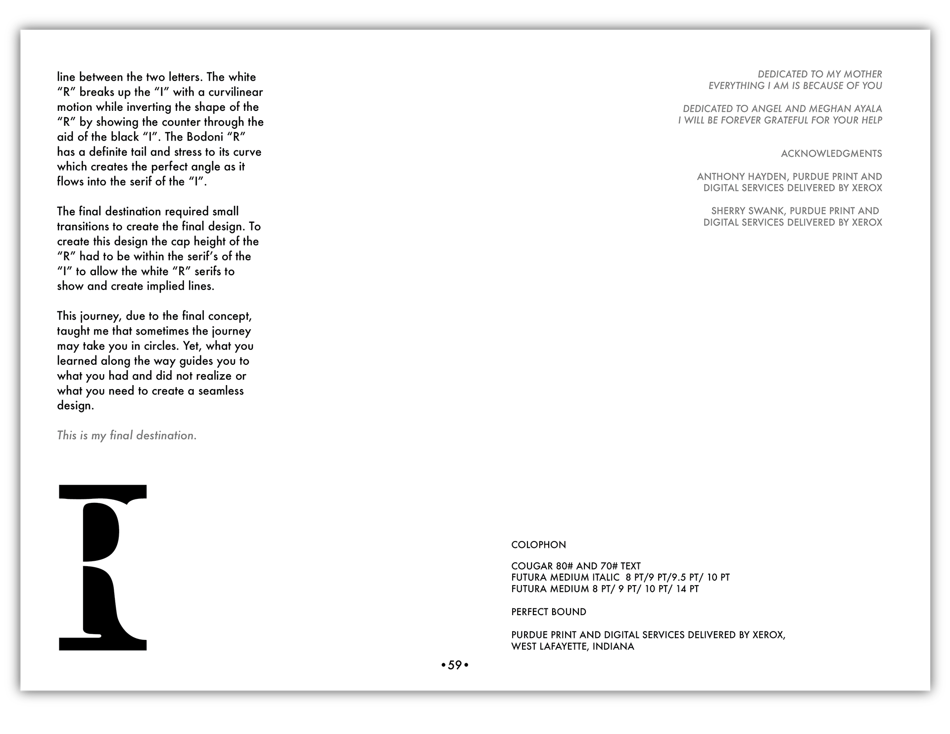 Emma Tisserand - A TYPOGRAPHIC JOURNEY: A LETTERFORM EXERCISE