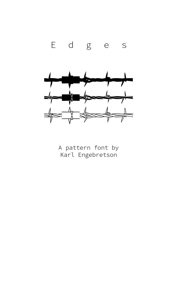 KZRL Design - Edges—Barbed Wire Pattern Font