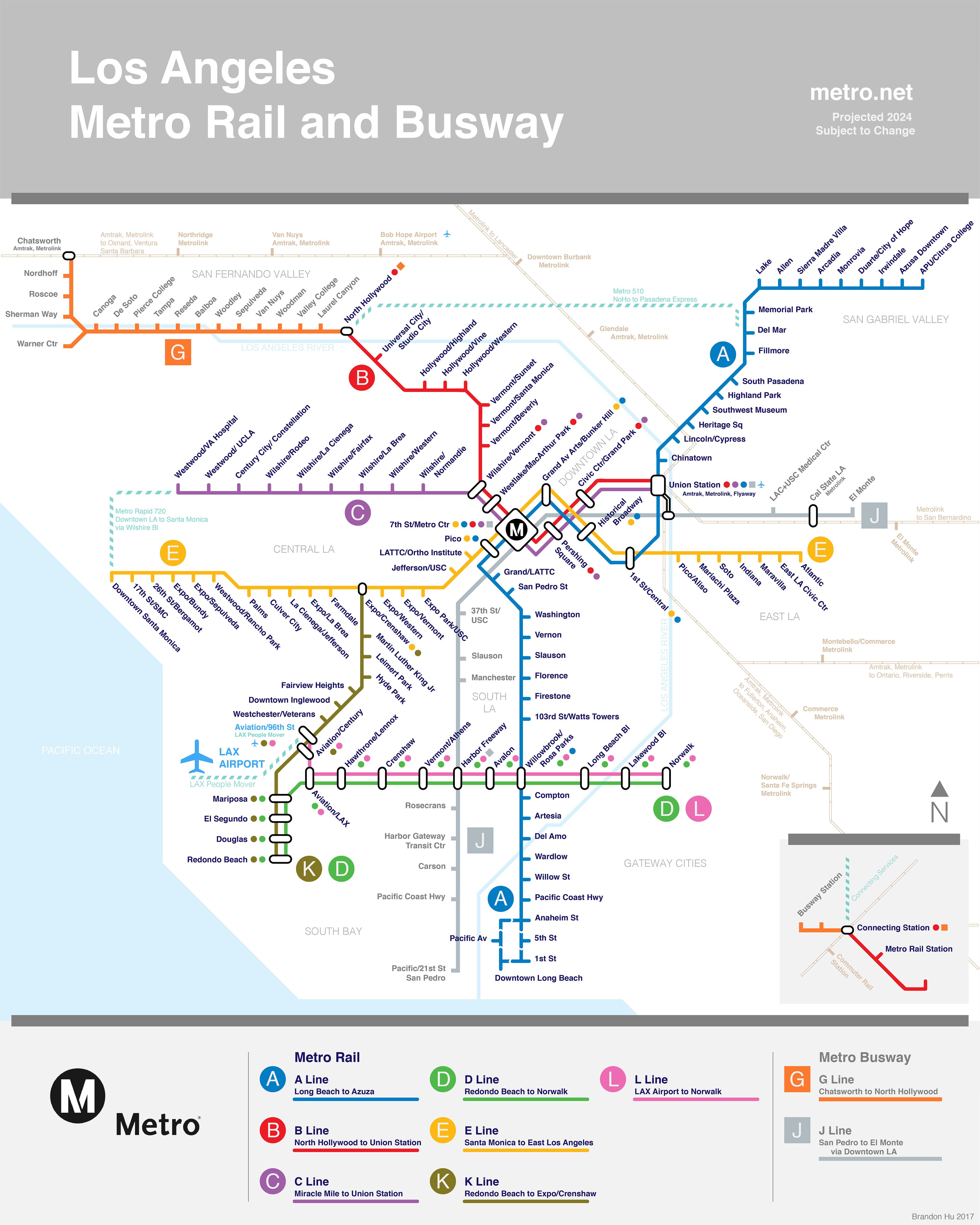Brandon Hu Los Angeles Metro Map Prototype 2017