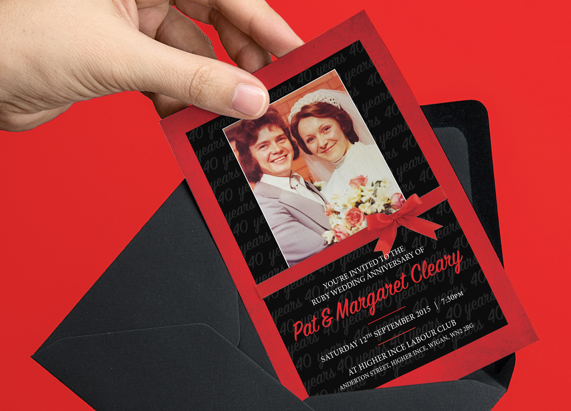 Ryan Eccleston Creative - Pat & Margaret\'s Ruby Wedding Anniversary ...