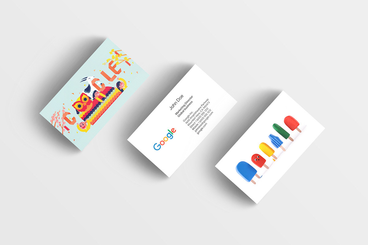 Jihye lee google business card started as a 20 project the cards got lots of love from googlers in many different countries and are now being updated globally with huge support from colourmoves