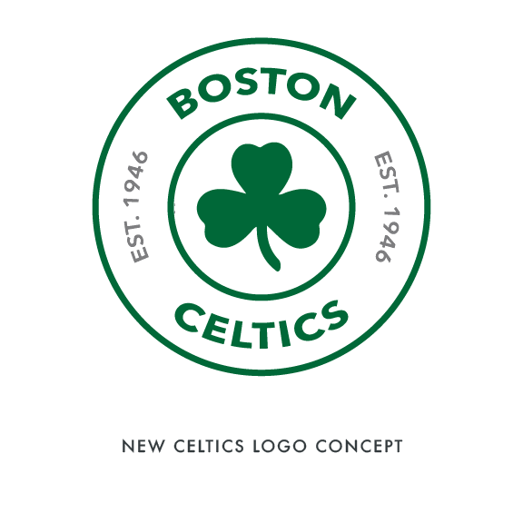 buy popular fd773 081a1 Black Ego - BOSTON CELTICS LOGO REDESIGN