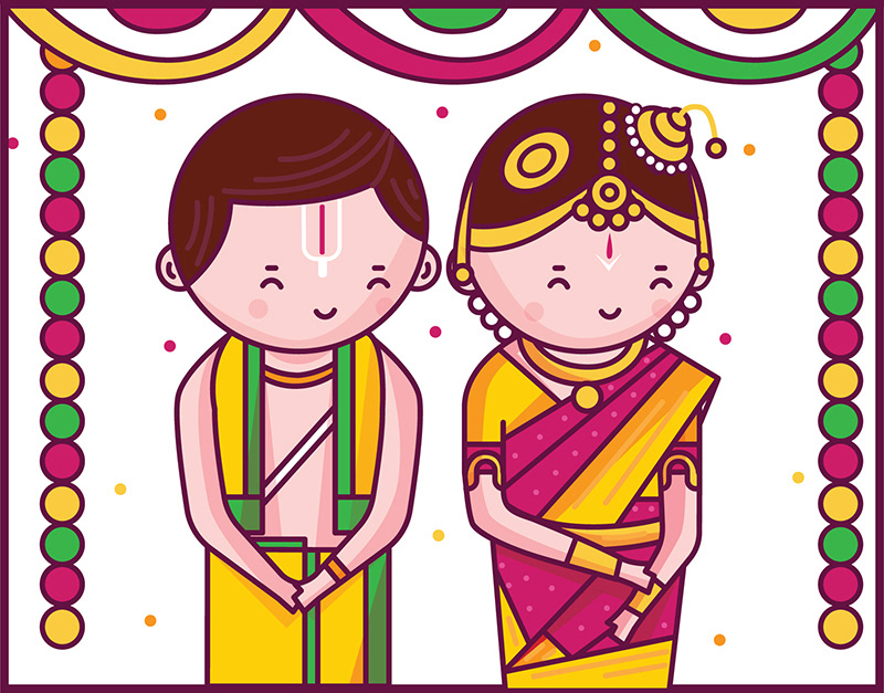Scd Balaji Cute Indian Brides And Grooms Wedding Invitation Cards