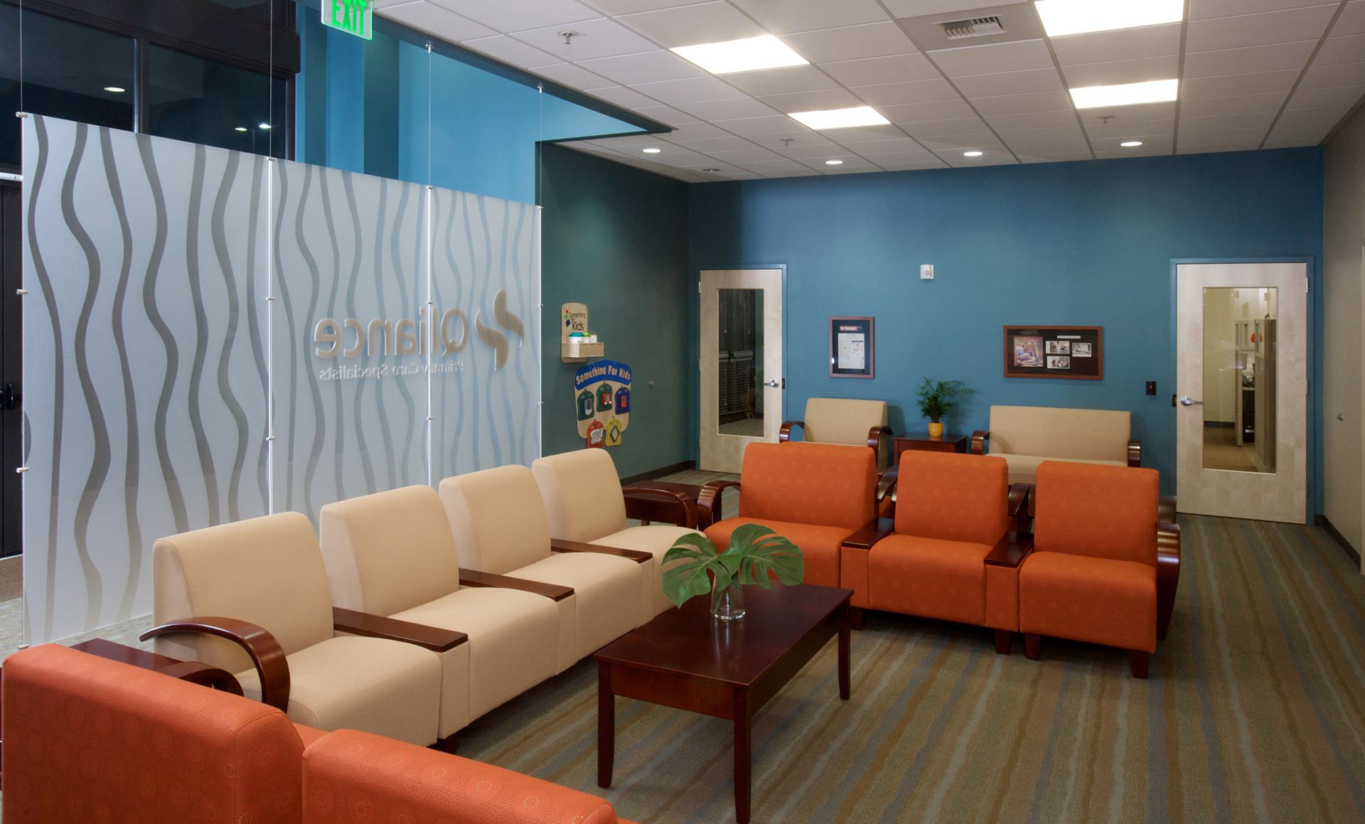 Katie hastings design llc qliance medical group kent for Medical office paint colors