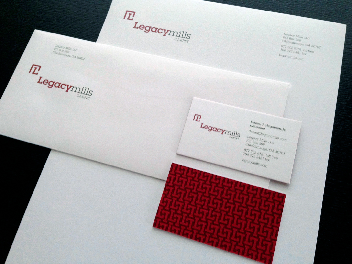 stationery with double-thick, textured business cards