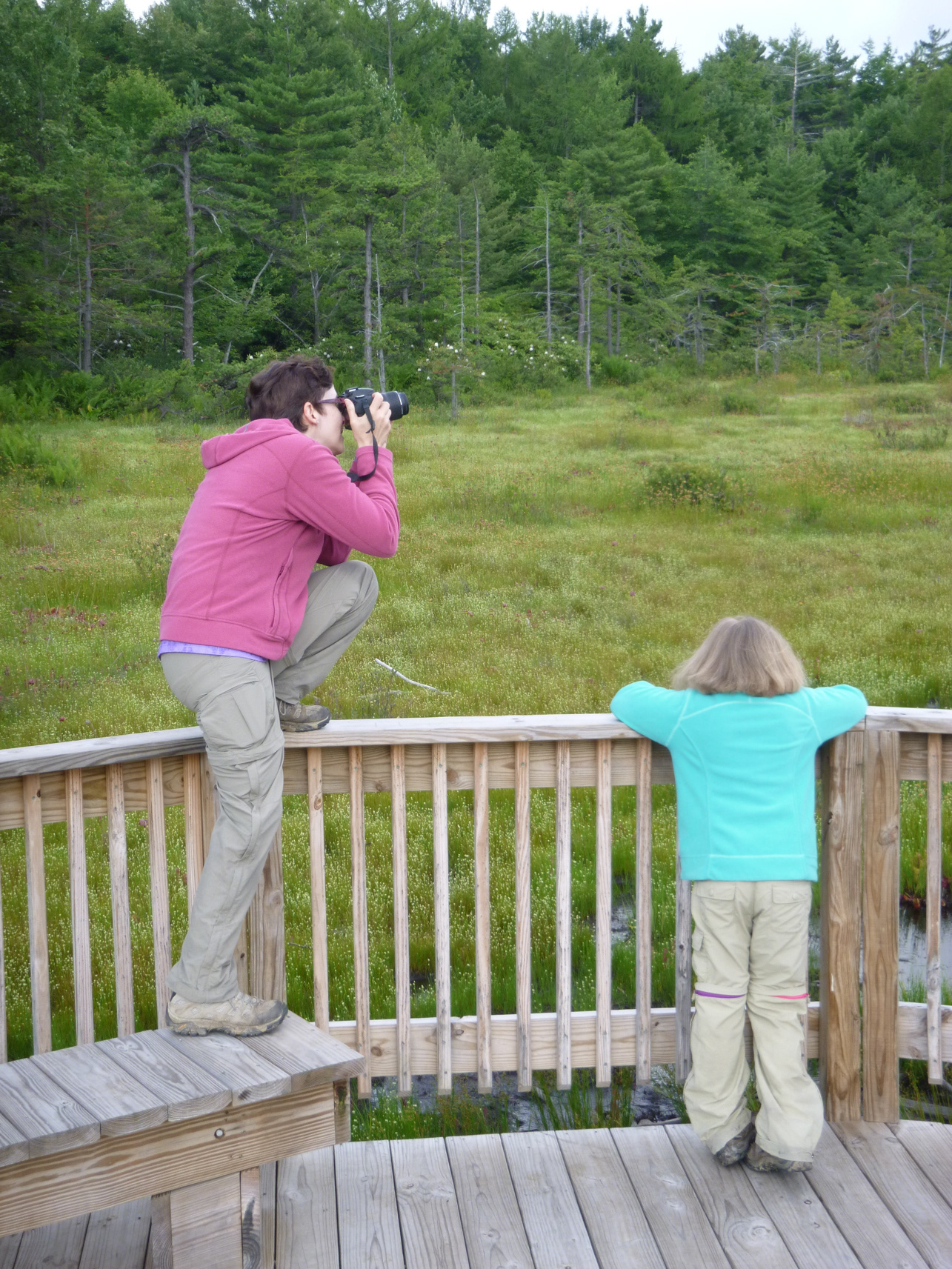 Kelly Paal taking a photo in the laurel highlands.