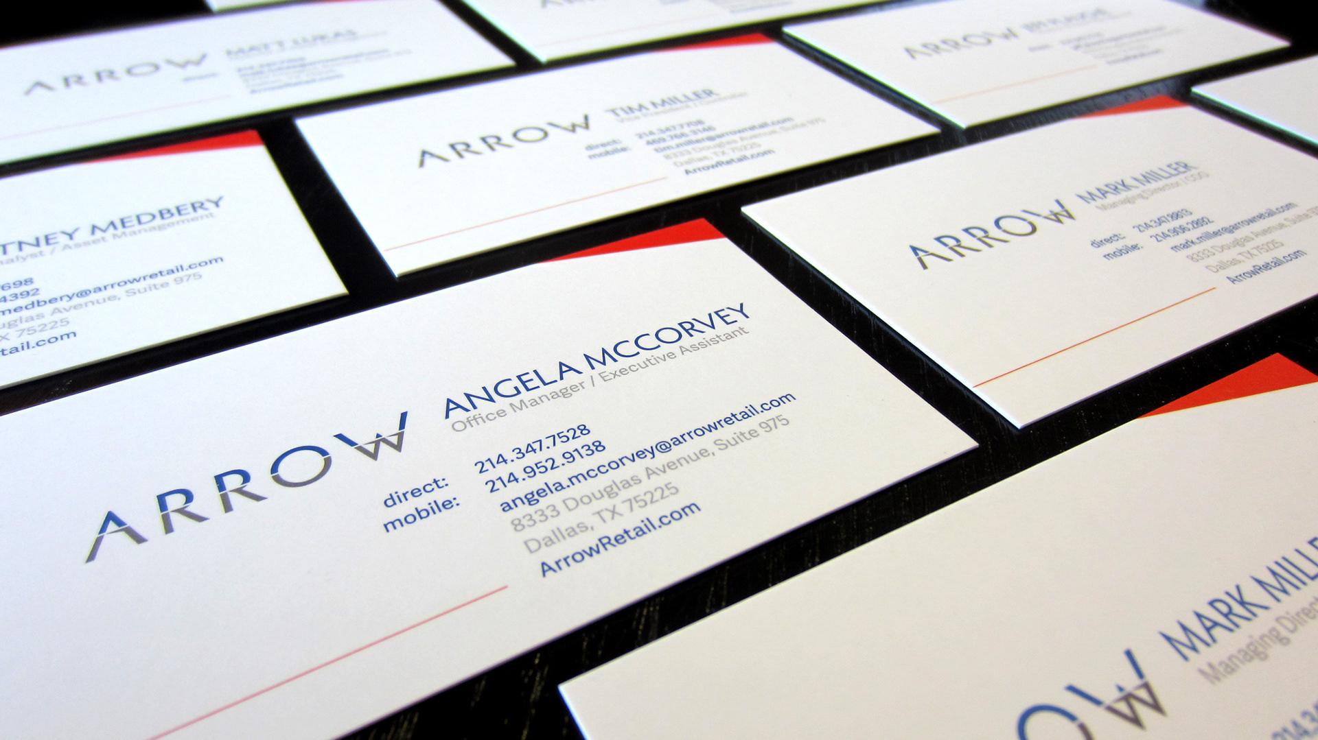 Kyle Hale - Arrow Retail - Business Card Design