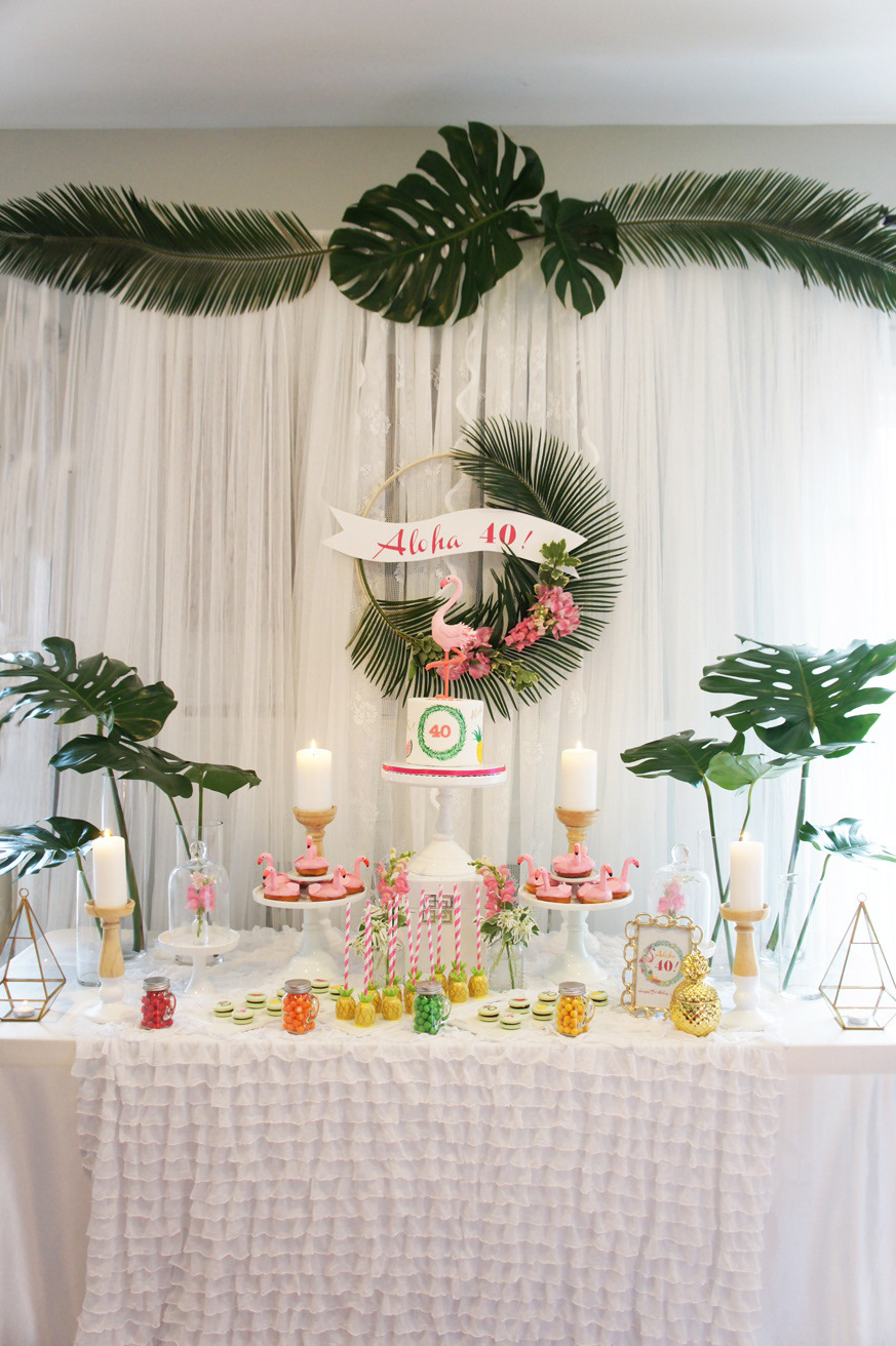 Party with Chloe - Tropical Flamingo Themed 40th Birthday Party