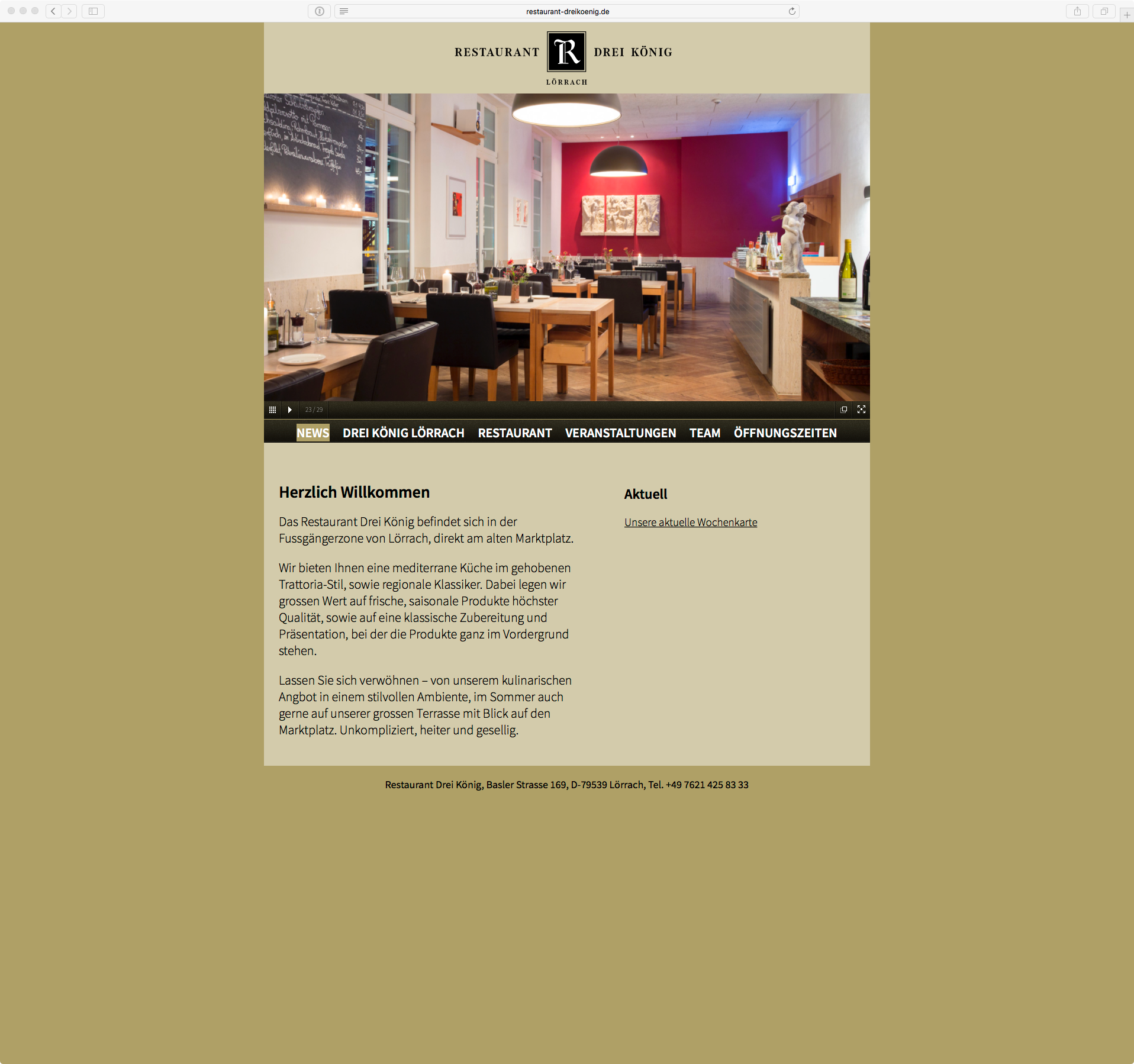 zweiwest/kommunikation, Simon Havlik, Basel - Website Restaurant ...