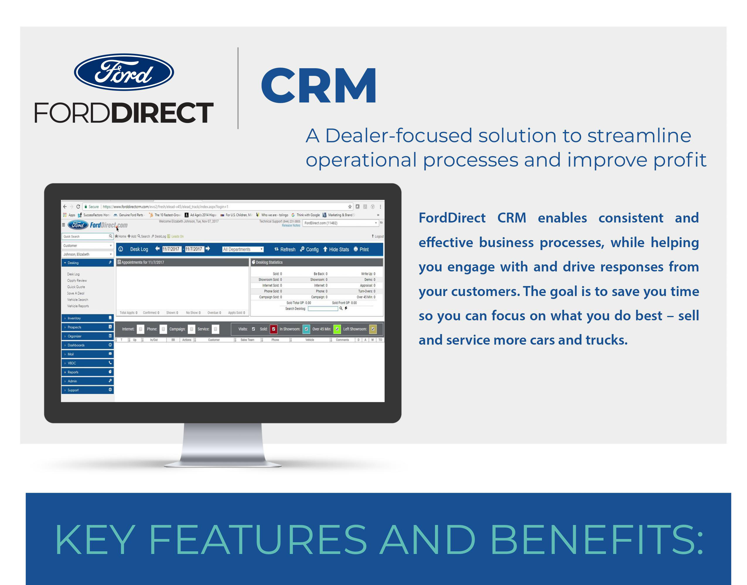 Forddirect crm 2 page sales brochure