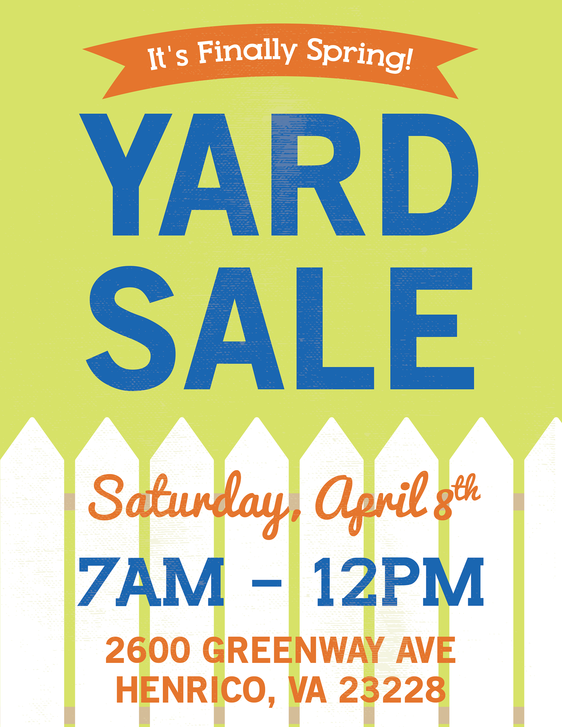 spring is finally here yard sale poster