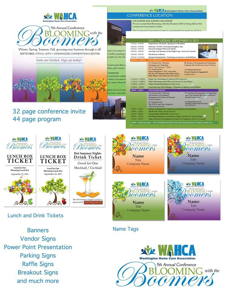 Jessica Parnell Washington Home Care Association Conference - Conference table signs